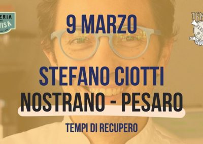 Tempi di recupero – Stefano Ciotti